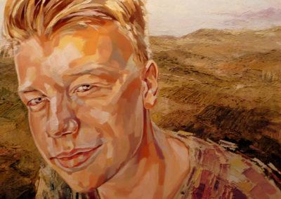 1 personne - 100 x 100 cm - huile sur toile 1