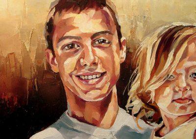 2 personnes - 30 x 70 cm - huile sur toile 2