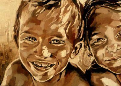 2 personnes - 30 x 70 cm - huile sur toile 3