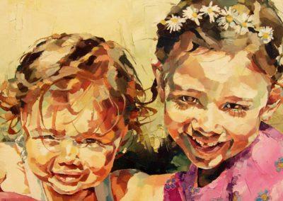 2 personnes - 30 x 70 cm - huile sur toile 4