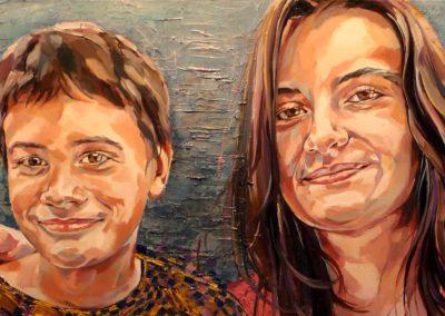 2 personnes - 40 x 100 cm - huile sur toile 1