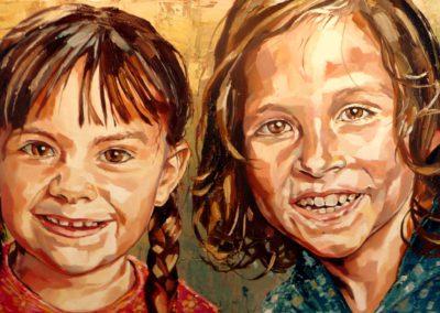2 personnes - 40 x 80 cm - huile sur toile 1