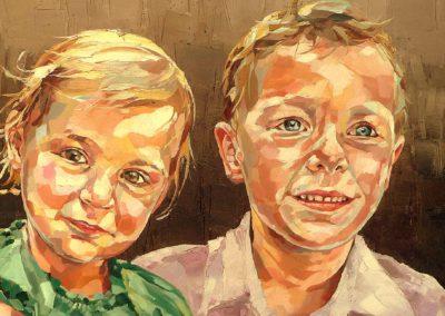 2 personnes - 40 x 80 cm - huile sur toile 2
