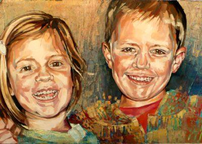 2 personnes - 40 x 80 cm - huile sur toile 3
