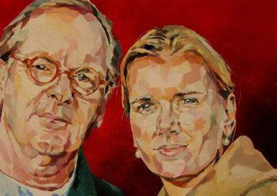 2 personnes - 40 x 80 cm - huile sur toile 4