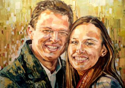 2 personnes - 50 x 70 cm - huile sur toile 1