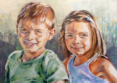 2 personnes - 60 x 75 cm - huile sur toile 1