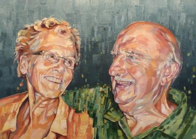 2 personnes - 65 x 80 cm - huile sur toile 1