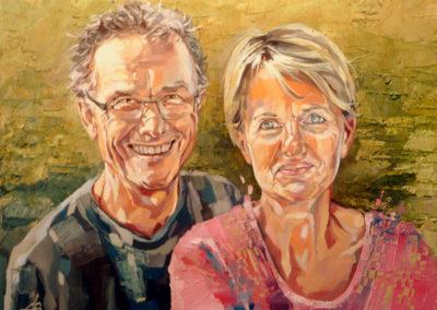 2 personnes - 65 x 90 cm - huile sur toile 1