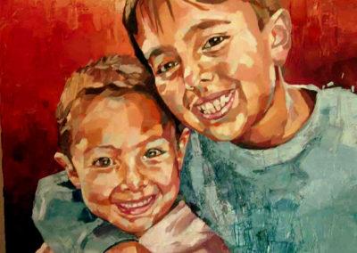 2 personnes - 70 x 90 cm - huile sur toile 1