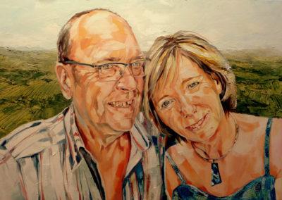 2 personnes - 70 x 95 cm - huile sur toile 1