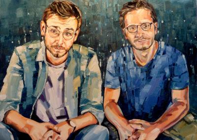 2 personnes - 90 x 120 cm - huile sur toile 1