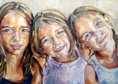 3 personnes - 50 x 100 cm - huile sur toile 1