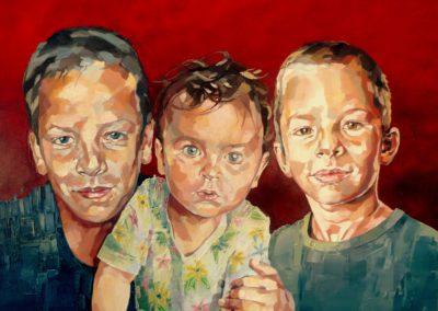 3 personnes - 60 x 80 cm - huile sur toile 1