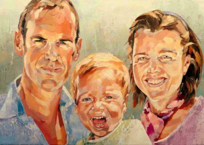 3 personnes - 60 x 90 cm - huile sur toile 1