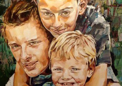 3 personnes - 70 x 120 cm - huile sur toile 1
