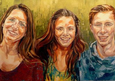 3 personnes - 70 x 120 cm - huile sur toile 2