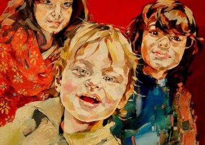 3 personnes - 70 x 70 cm - huile sur toile 1