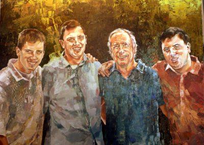 4 personnes - 100 x 120 cm - huile sur toile 1