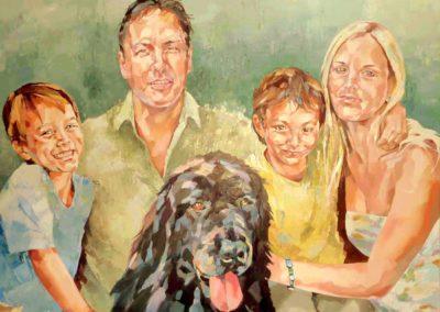 4 personnes - 100 x 120 cm - huile sur toile 2