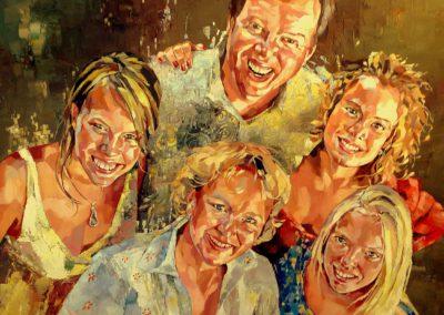 5 personnes - 100 x 120 cm - huile sur toile 1