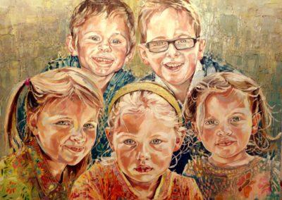 5 personnes - 70 x 90 cm - huile sur toile 1