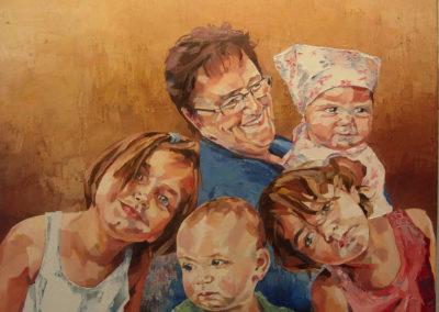 5 personnes - 90 x 120 cm - huile sur toile 1