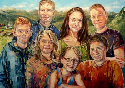 7 personnes - 90 x 120 cm - huile sur toile 1