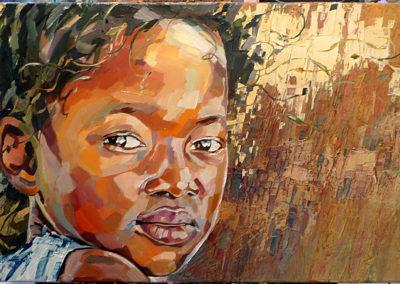 """""""El viento"""" (huile sur toile) - 70 x 45 cm (vendu)"""
