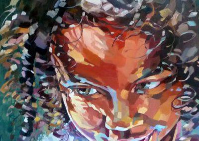 """""""Emely"""" (huile sur toile) - 90 x 90 cm (vendu)"""