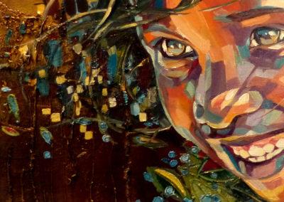 """""""Future"""" (huile sur toile) - 60 x 20 cm (à vendre)"""