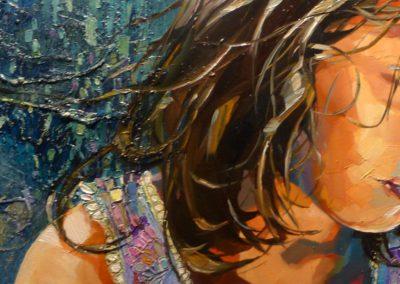 """Helena"" (huile sur toile) - 90 x 30 cm (vendu)"
