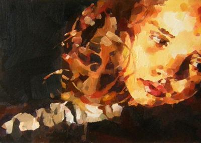 """Jade"" (huile sur toile) - 70 x 30 cm (vendu)"