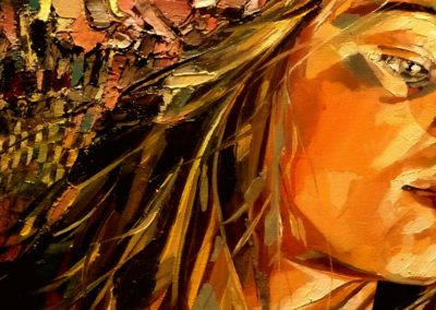 """Jona"" (huile sur toile) - 60 x 20 cm (à vendre)"