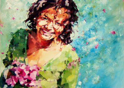 """""""Katharina"""" (huile sur toile) - 120 x 100 cm (vendu)"""