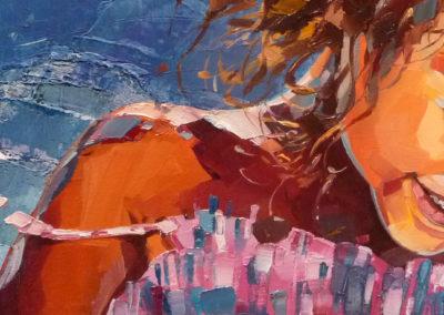 """""""Maria-juillet"""" (huile sur toile) - 70 x 20 cm (vendu)"""