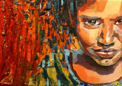 """""""Naranja"""" (huile sur toile) - 22 x 16 cm (à vendre)"""