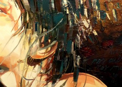 """""""Ninos del viento"""" (huile sur toile) - 90 x 30 cm (à vendre)"""