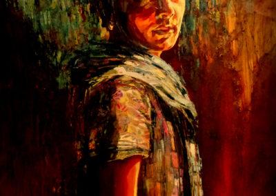 """""""Yona"""" (huile sur toile) - 70 x 100 cm (vendu)"""