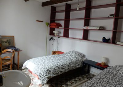 chambre - 2 lits separé