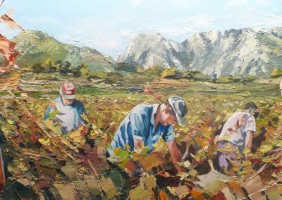 """""""Les Caroux"""" (huile sur toile) - B x H cm (verkocht)"""