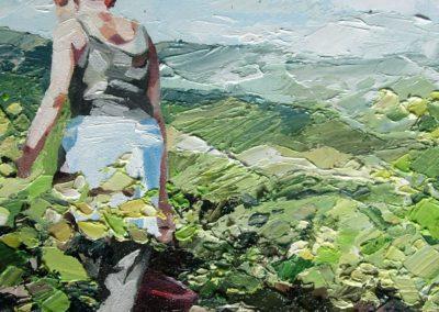 """""""Vendange 2007"""" (huile sur toile) - 20 x 20 cm (verkocht)"""